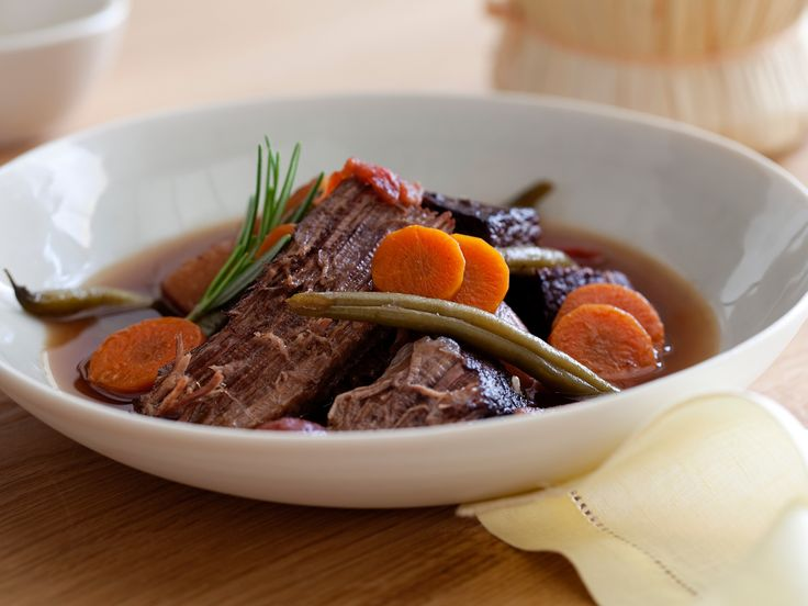 Chianti Marinated Beef Stew from FoodNetwork.com  Says it serves 4-6... I'd say more like 6-8!