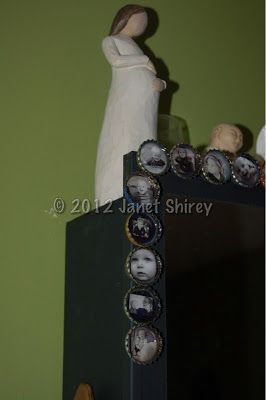 """Janet Shirey a.k.a. """"Mama J"""": Photograph Magnets Upcycled with Bottle Caps"""