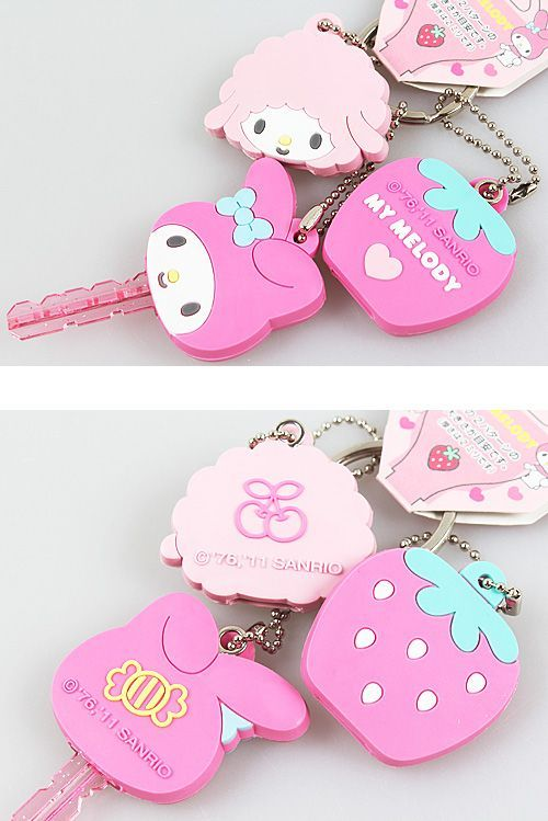 (1) My Melody keychains and key covers. ♥ | ♡Sanrio♡ | Pinterest