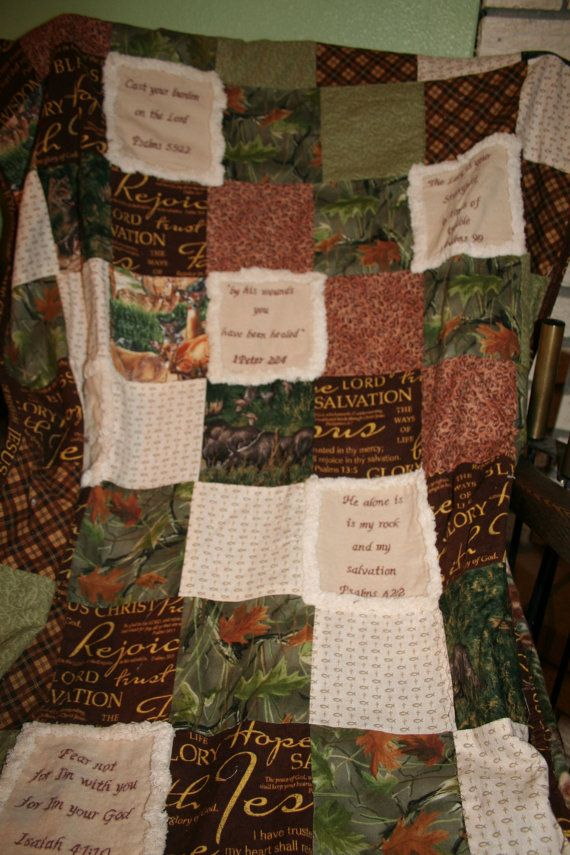Encouragement Scripture Quilt Personalized Quilt