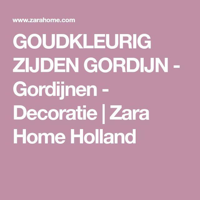 GOUDKLEURIG ZIJDEN GORDIJN - Gordijnen - Decoratie   Zara Home Holland