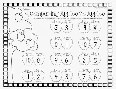 Freebie comparing numbers printable