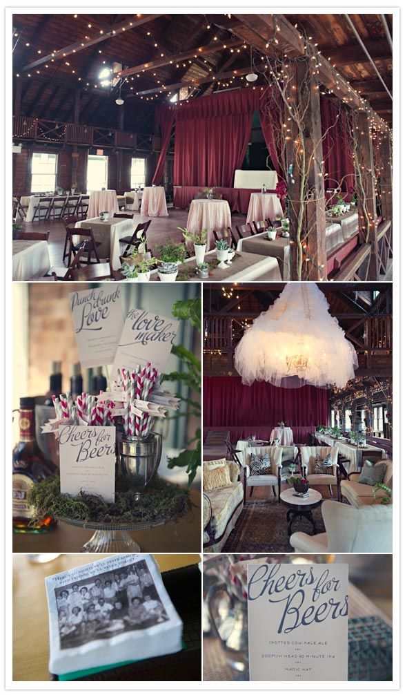 really pretty wedding reception area rustic and