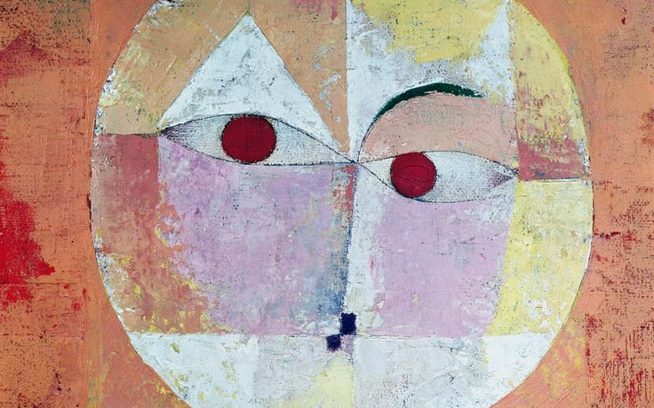 Detail from Senecio by Paul Klee. 1922. Oil on gauze. Kunstmuseum, Basel. Photo by Corbis