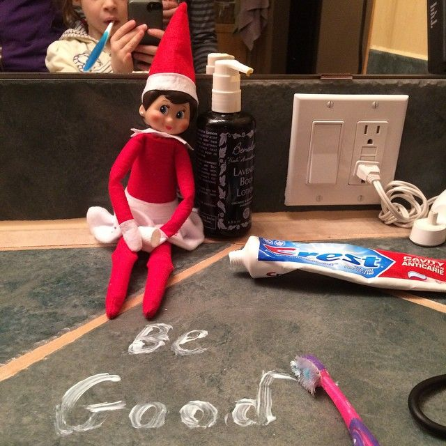 A good reminder to all the kids out there. #elfontheshelf #begood #santascoming #christmas