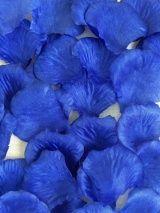 Шёлковые лепестки роз (100 шт), тёмно-синий