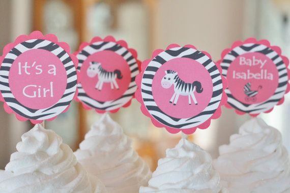 12   Zebra Animal Jungle Print Baby Shower by DreamPartyPaperie