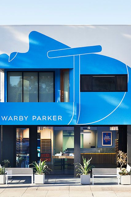 The Most Beautiful New Stores In L.A. #refinery29  http://www.refinery29.com/new-los-angeles-stores#slide1  Warby Parker  For their first freestanding Los Angeles store, Warby Parker opted for some serious SoCal vibes. The space is breezy. The sunnies are as cool as ever. And, the storefront also boasts a bright, blue mural created by L.A.-based artist Geoff McFetridge.Warby Parker, 1422 Abbot Kinney Boulevard; 310-280-2055.