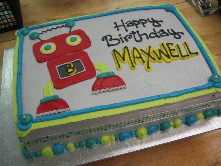 I am a Robot sheet cake.