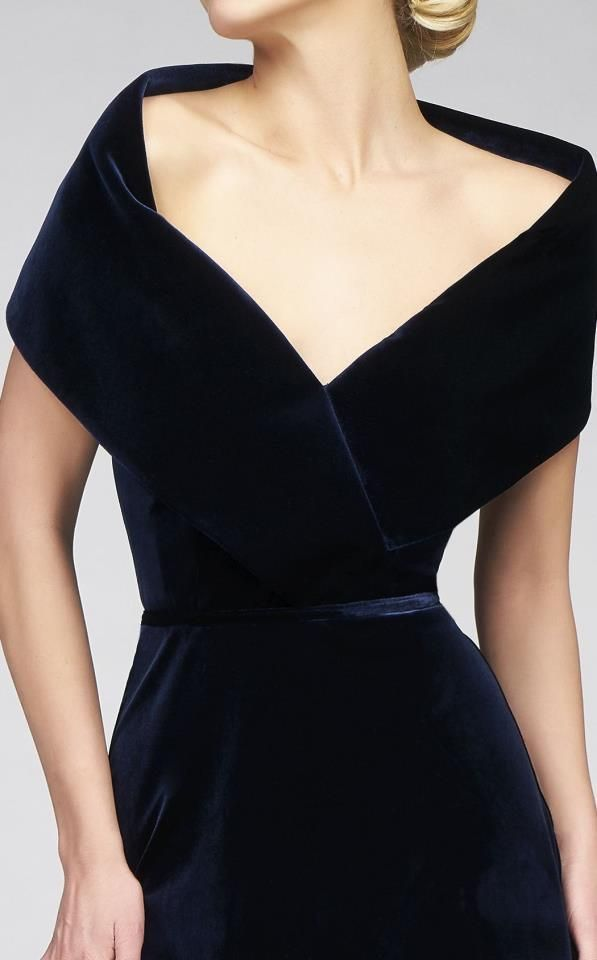 Mac Duggal Dress, beautiful portrait collar and Naughton Braun has the PERFECT #pearls for this dress!!! www.naughtonbraun.com