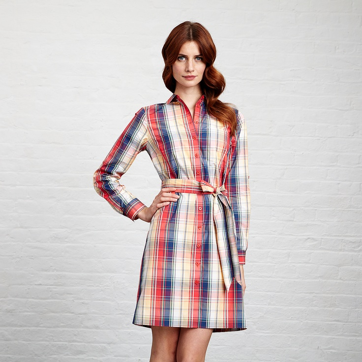 Martinique Check Dress by Thomas Pink