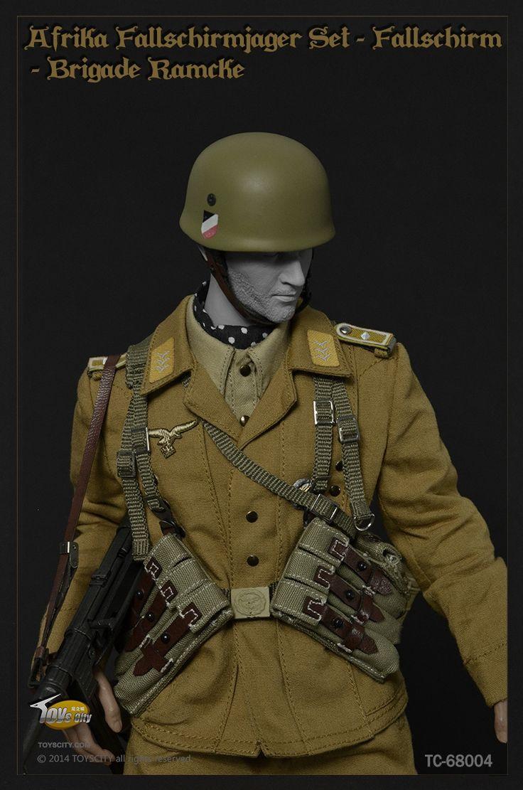 70.00$  Buy now - http://aliulb.worldwells.pw/go.php?t=32267115042 - Toyscity :1/6  Afrika Fallschirmjager, Fallschirm-Brigade Ramcke, El Alamein 1942