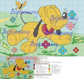amorevitacrocette: baby pluto in giardino per copertina di lana
