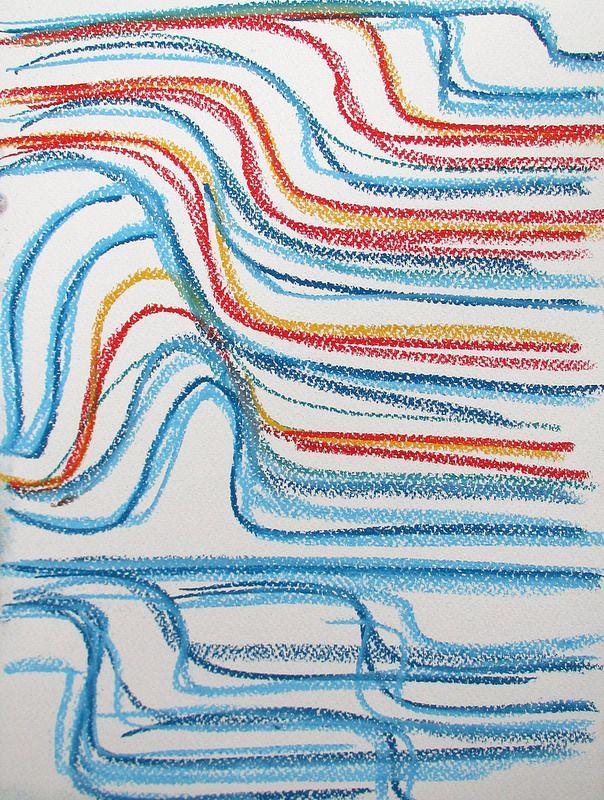 Sea and sky #art #pastels #drawing #abstract #sea #sky #helsinki #finland