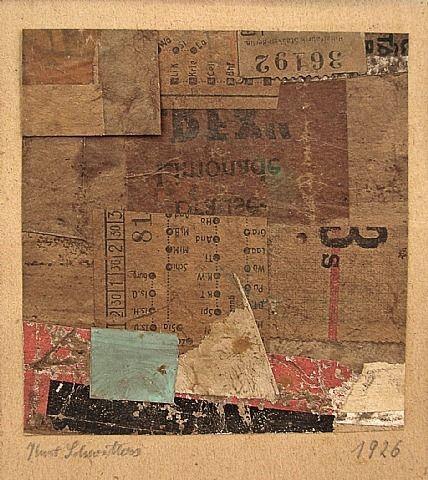 Kurt Schwitters/ Sans titre/1926 /              Works on Paper (Drawings, Watercolors etc.) / Collage de papiers sur papier