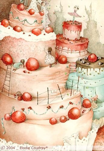 happy birthday illustration cake illustration art illustrations happy ...