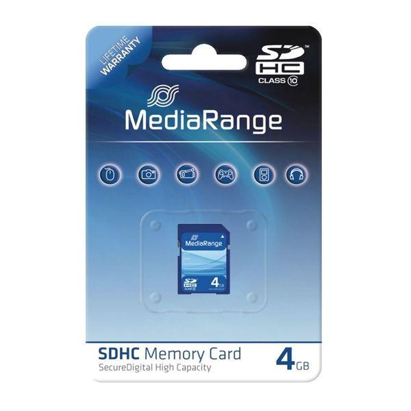Mediarange Tarjeta SDHC 4GB Clase 10;  Las unidades de almacenamiento Flash de MediaRange son conocidos por su muy buena calidad y fiabilidad. Adecuados para su uso en dispositivos portátiles como cámaras digitales, sistemas de navegación, reproductores de música y cámaras de vídeo. Las velocidades de transmisión de alta velocidad evitan demoras al fotografiar, o al copiar y descargar tus datos digitales... En   http://www.opirata.com/mediarange-tarjeta-sdhc-clase-p-29203.html