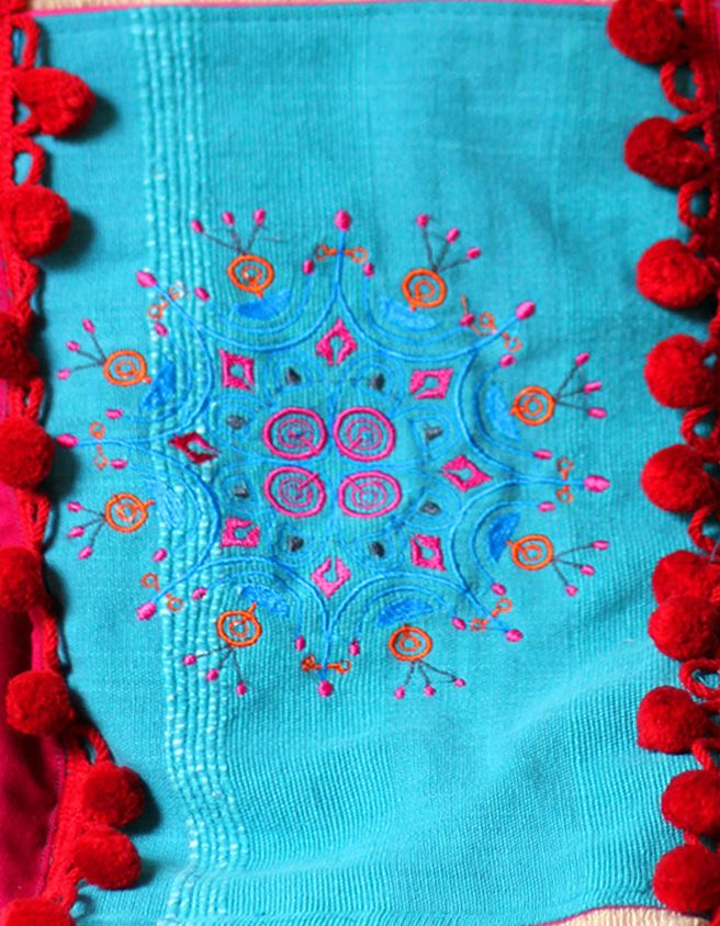 bag BOHO EVE, casual bag, embroidered pocket