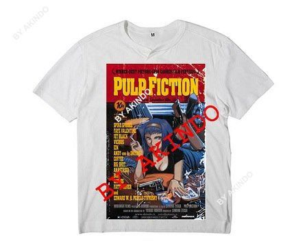 Cowboy Bebop/Pulp Fiction poster t-shirt by Akindoonline on Etsy