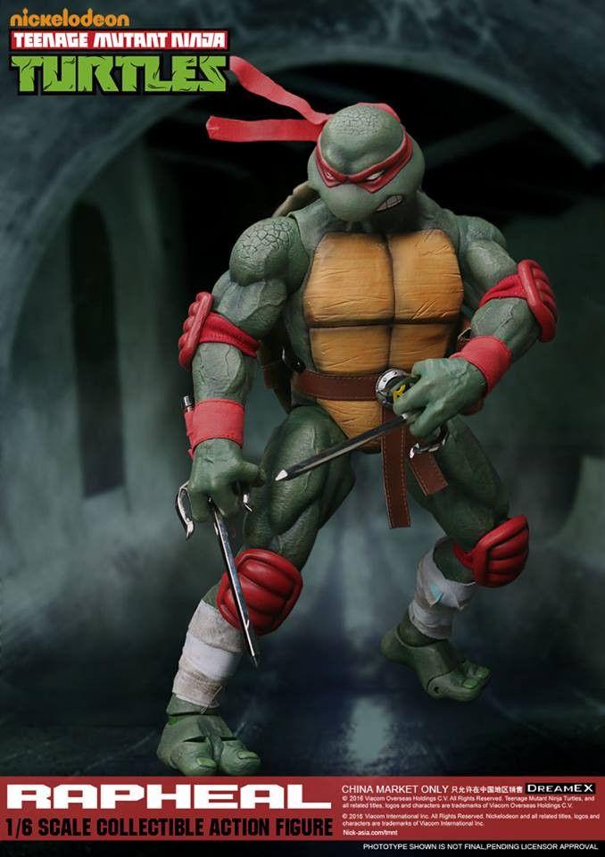 PRE-ORDER 1/6 Scale Raphael Teenage Mutant Ninja Turtle Figure by DreamEX