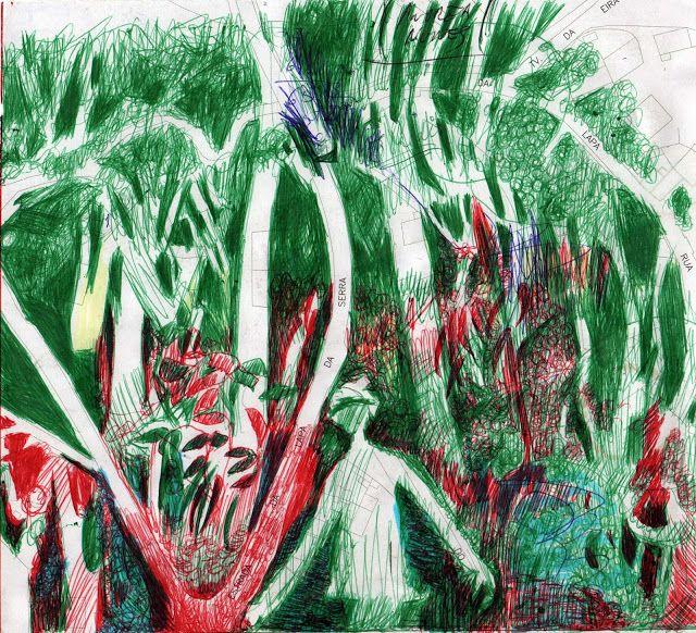 LUIS DESENHA: Caminho na Floresta.