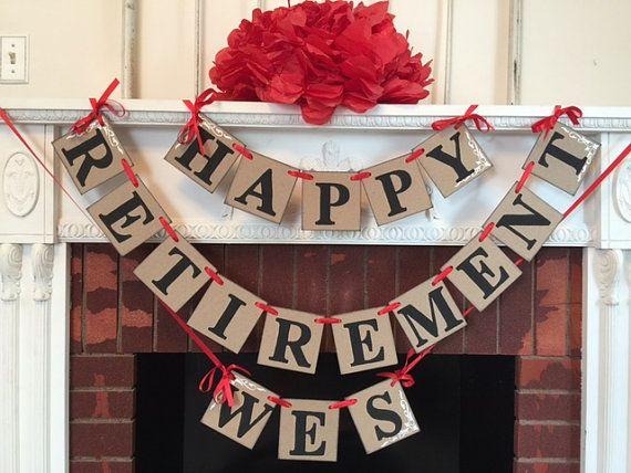 Retirement Party Decorations / Happy Retirement Banner /