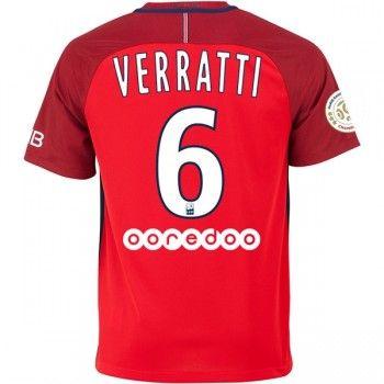 Paris Saint Germain PSG 16-17 Marco Verratti 6 Bortatröja Kortärmad  #Fotbollströjor
