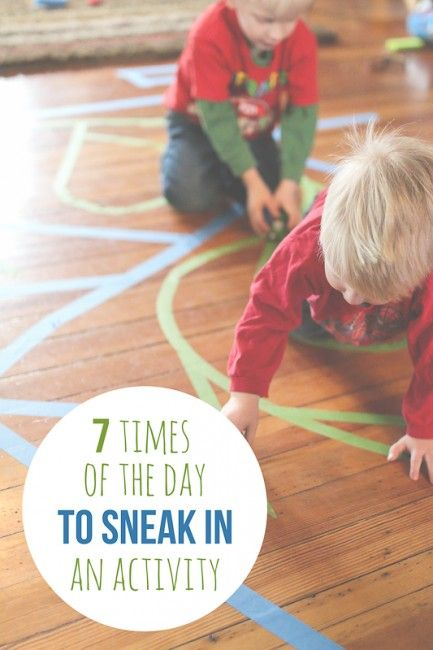 Quick times of the day we could sneak an activity in - it doesn't take too much time!