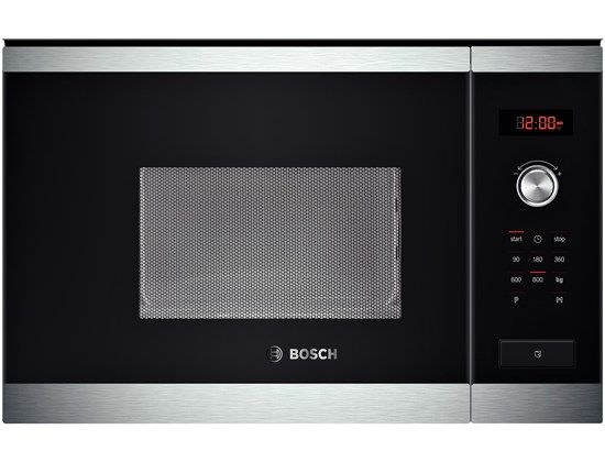 brushed steel Compact microwave oven