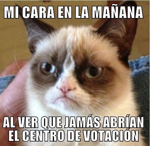 Mi Cara En La Mañana  Al Ver Que Jamás Abrían el Centro de Votación Y Al Ver Que Jamás Publicaron Resultados  :-D