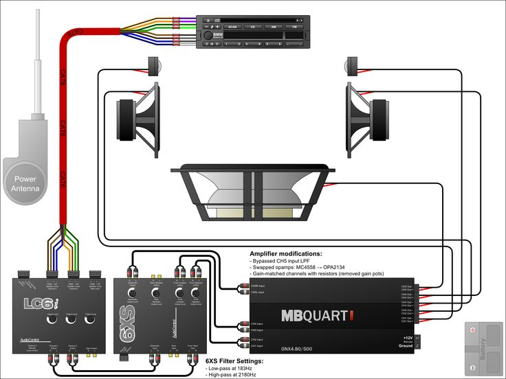 Best Car Audio Images On Pinterest Car Stuff Speakers And - Wiring diagrams for car audio