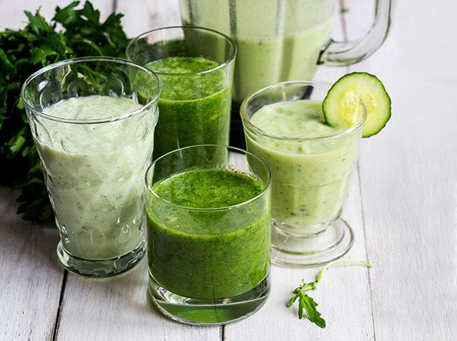 5 grüne Smoothies für den Energiekick