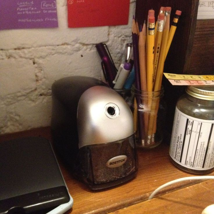 Look I've treated myself (finally) to an electric sharpener.  I bought it as retail therapy after I managed to get some water in my trackpad and screwed up my computer. So found myself at 10.01am in Best Buy trying to buy a USB mouse. Pro tip: you can't. Go to Staples.  And thus I was stood adrenaline pumping with laptop fear far too early to be near large quantities of stationery. This was comfort shopping of the highest order. I count myself lucky I didn't come away with something more…