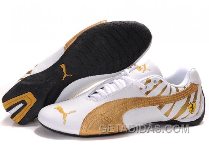 7e1e4ba1e0462 Shop Mens Puma Future Cat Ferrari Zebra White Gold Authentic black