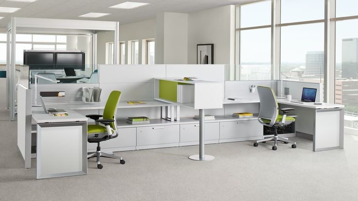 Answer, a freestanding modular workstation, offers a range of applications, aesthetics, and technology support while supporting both privacy and collaboration.