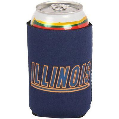 ILLINOIS FIGHTING ILLINI KOLDER KADDY KOOZIE CAN HOLDER BRAND NEW SHIPPING