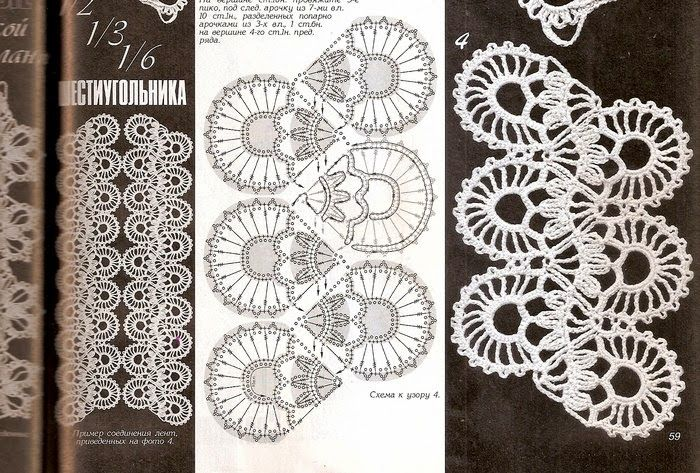 Mejores 153 imágenes de Encajes crochet en Pinterest | Patrones de ...