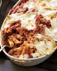 Baked Penne with Sausage and Creamy Ricotta Recipe from Food ...