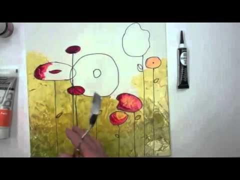Peinture sur toile avec la peinture p b o vitrail for Pebeo vitrail glass paint instructions