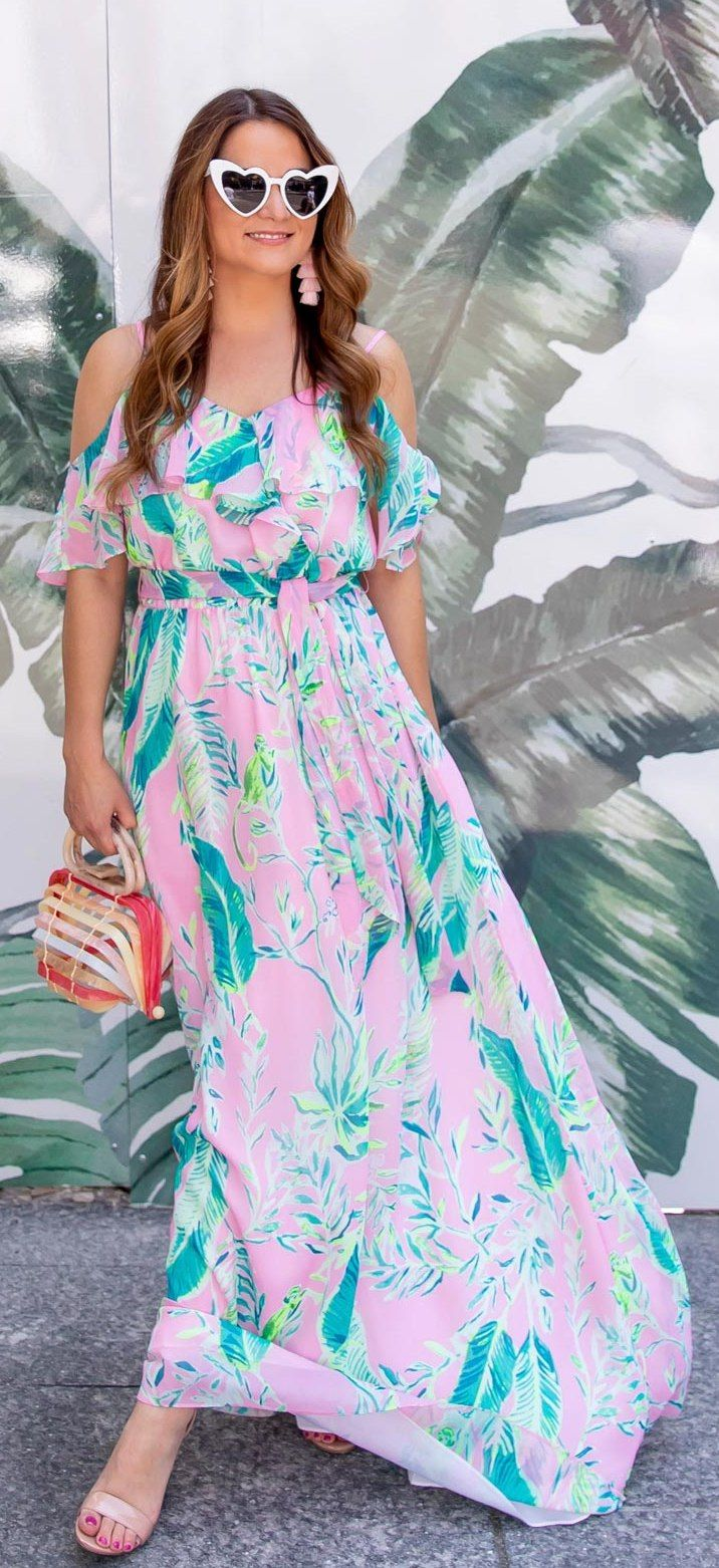 6546e430f3 Lilly Pulitzer Zadie Maxi Dress // Friday Charades | Fashion | Lilly ...