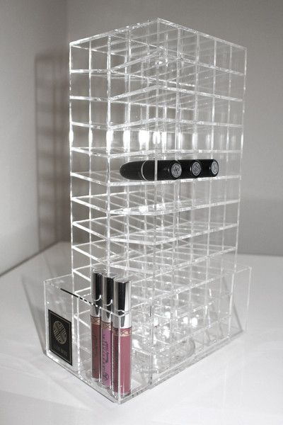This arcrylic lipstick stand I the perfect way to have all your lipstick out on show . this is saving you from having to rummage through yor makeup drawers looking for that lipstick that always ends up in a complete different place from where you put it .