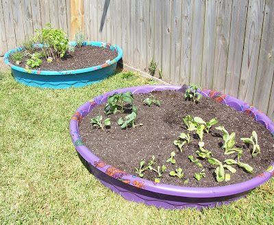 Charming How To Make A Kiddie Pool Garden