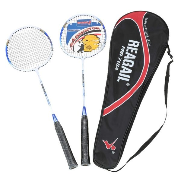 2pcs Pair Lightweight Training Badminton Racket Racquet With Carry Bag Sport Equipment Durable Aluminium Alloy Badminton Set Badminton Racket Badminton Badminton Set