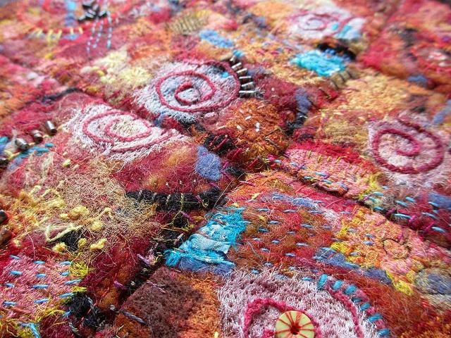 Sedona, by Jane LaFazio, handmade felt, pieced and stitched, via Flickr.