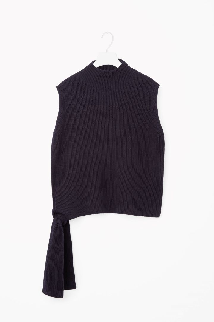 COS image 4 of Sleeveless knit top in Navy