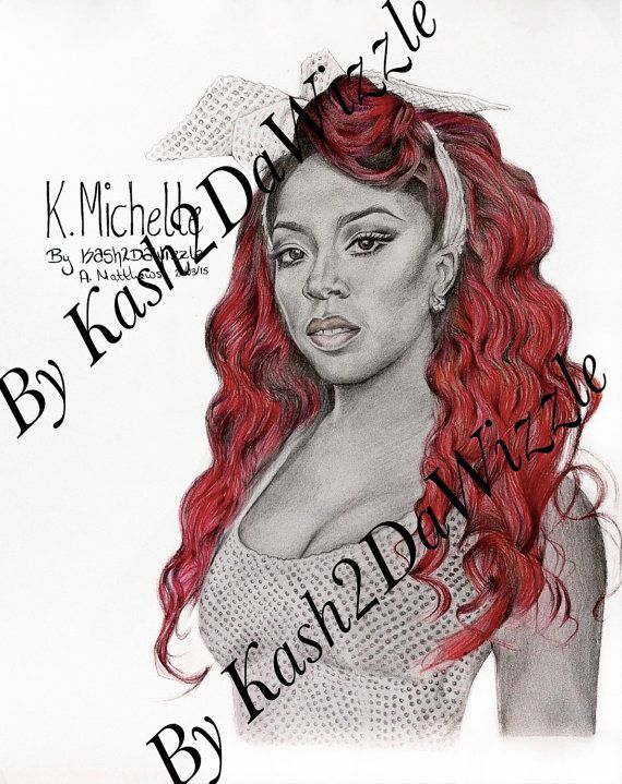 K. Michelle #drawing #art #colour #music #rnb #kmichelle #pencil #celebrity #singer #portrait #female #artists #blackart #etsyfind