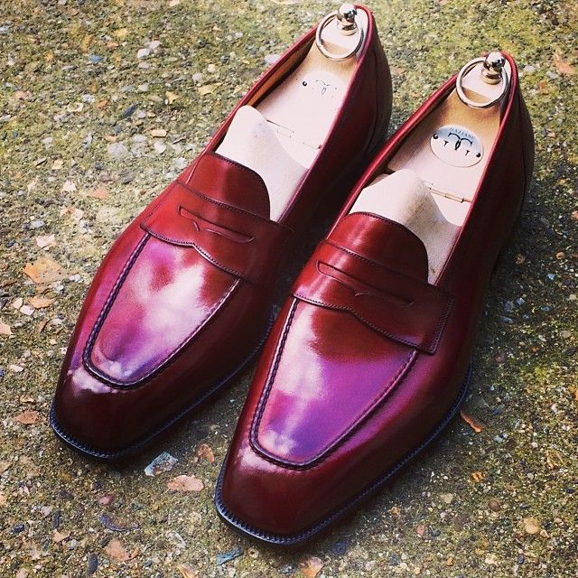 gazianogirling:  Bespoke cherry penny loafer.  http://theimpeccablydressedmrbwooster.tumblr.com/
