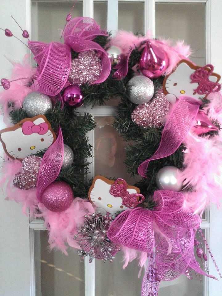 Hello Kitty wreath
