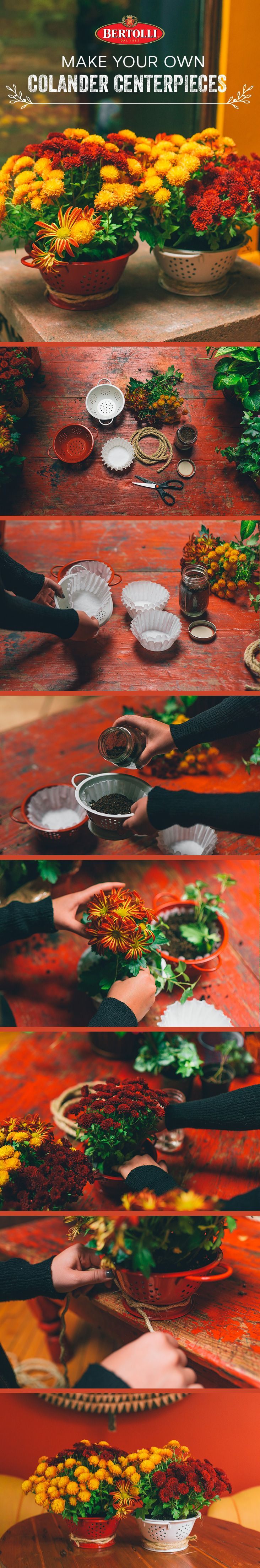 Hanging Herb Garden Kit Part - 39: That Colander You Use To Drain Spaghetti Also Makes A Unique Planter For A  Kitchen Herb Garden. Keep It On Your Countertop Or Use A Flowerpot Hanging  Kit To ...