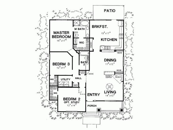8 best Bungalow floor plans images on Pinterest Bungalow floor - bungalow floor plans